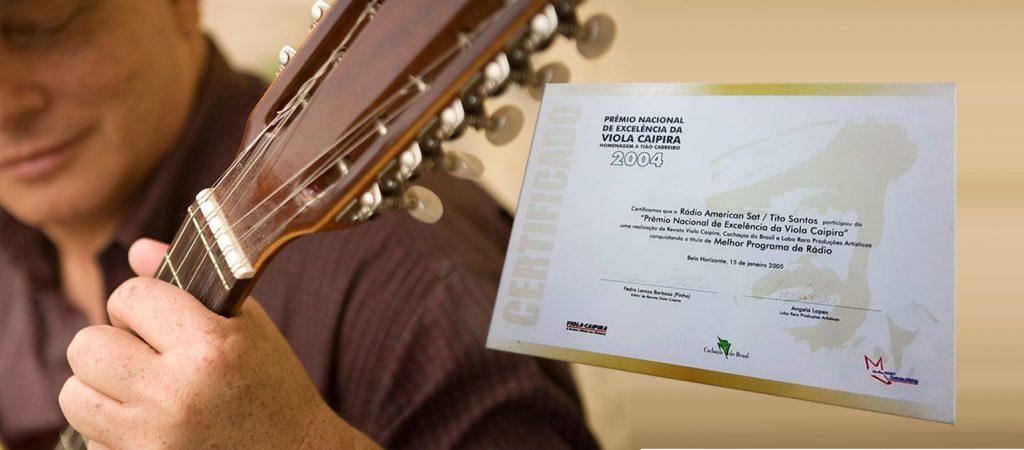 Tito Santos - Prêmio Nacional de Exelência Viola Caipira